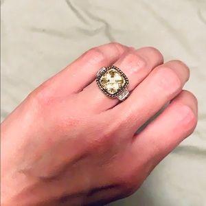 Lia Sophia Yellow cubic zirconia ring